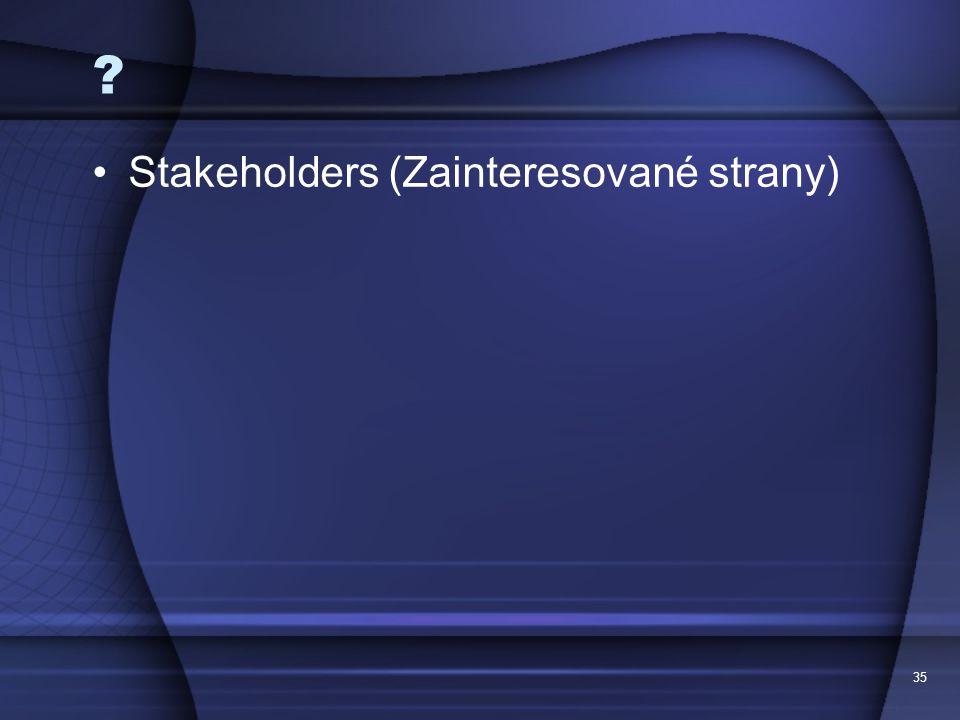 Stakeholders (Zainteresované strany) 35