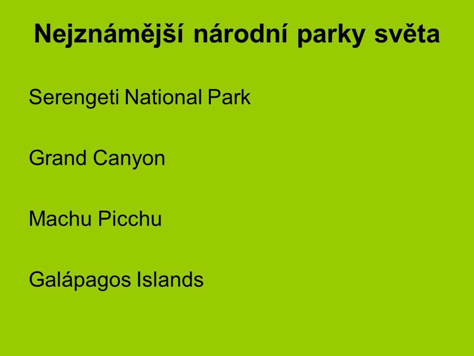 Nejznámější národní parky světa