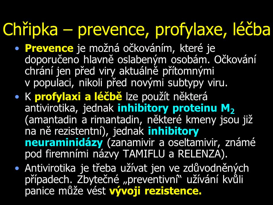 Chřipka – prevence, profylaxe, léčba