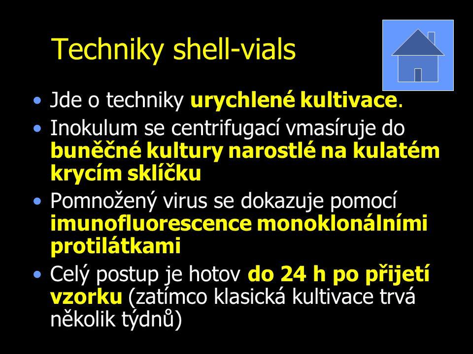 Techniky shell-vials Jde o techniky urychlené kultivace.