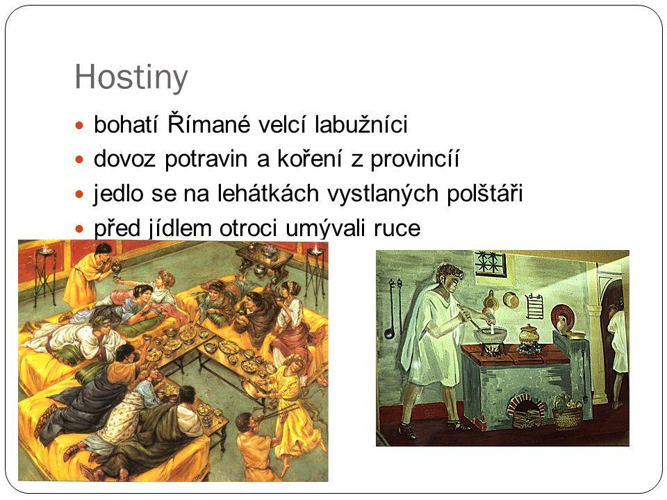 Hostiny bohatí Římané velcí labužníci