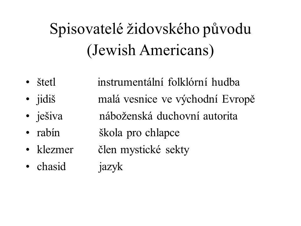 Spisovatelé židovského původu (Jewish Americans)