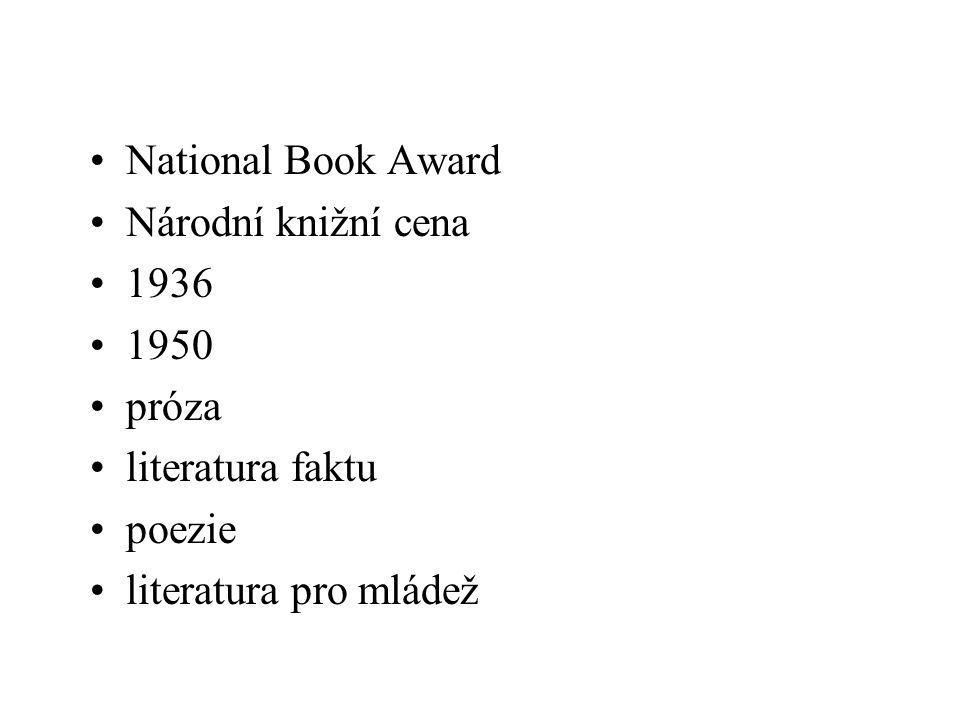 National Book Award Národní knižní cena 1936. 1950 próza.