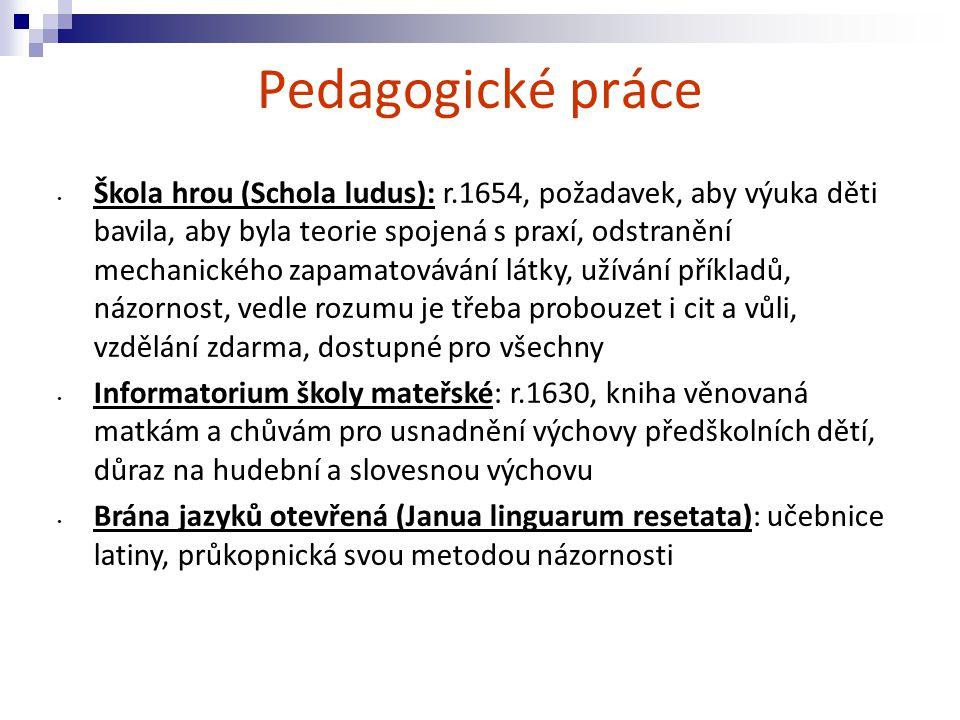 Pedagogické práce