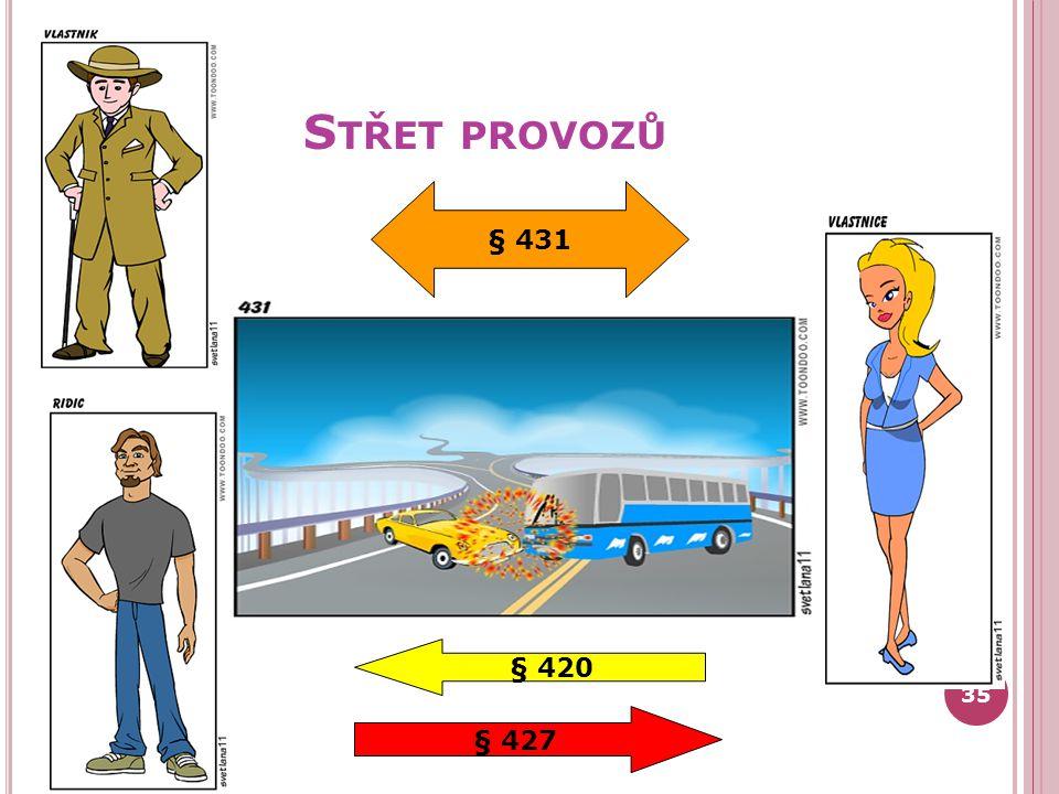 Střet provozů § 431 § 420 § 427