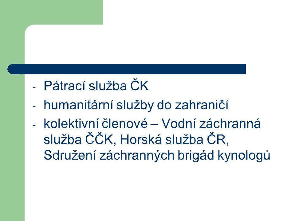 Pátrací služba ČK humanitární služby do zahraničí.