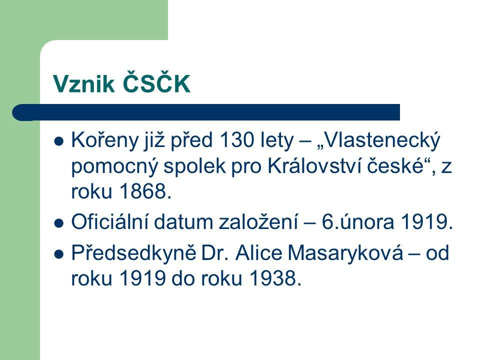 """Vznik ČSČK Kořeny již před 130 lety – """"Vlastenecký pomocný spolek pro Království české , z roku 1868."""