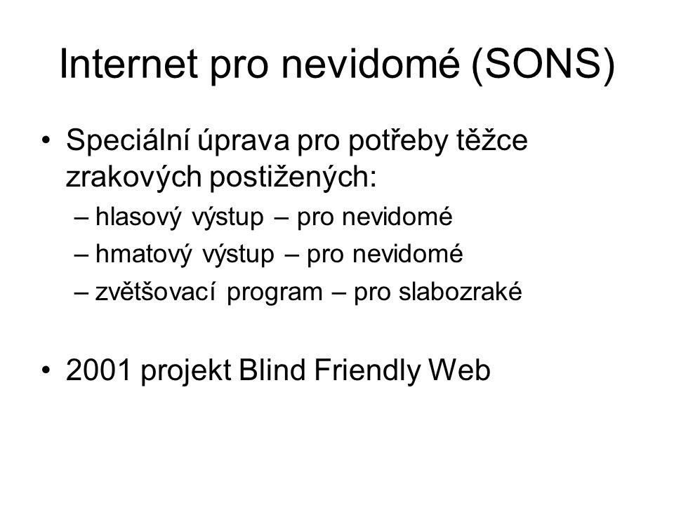 Internet pro nevidomé (SONS)