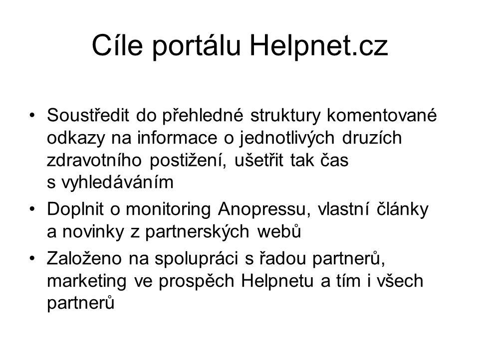 Cíle portálu Helpnet.cz