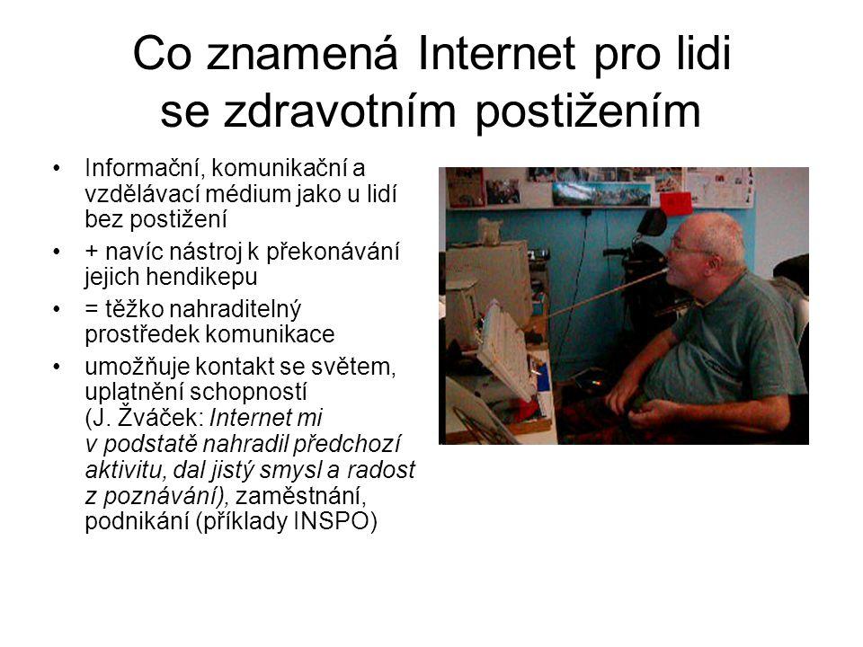 Co znamená Internet pro lidi se zdravotním postižením