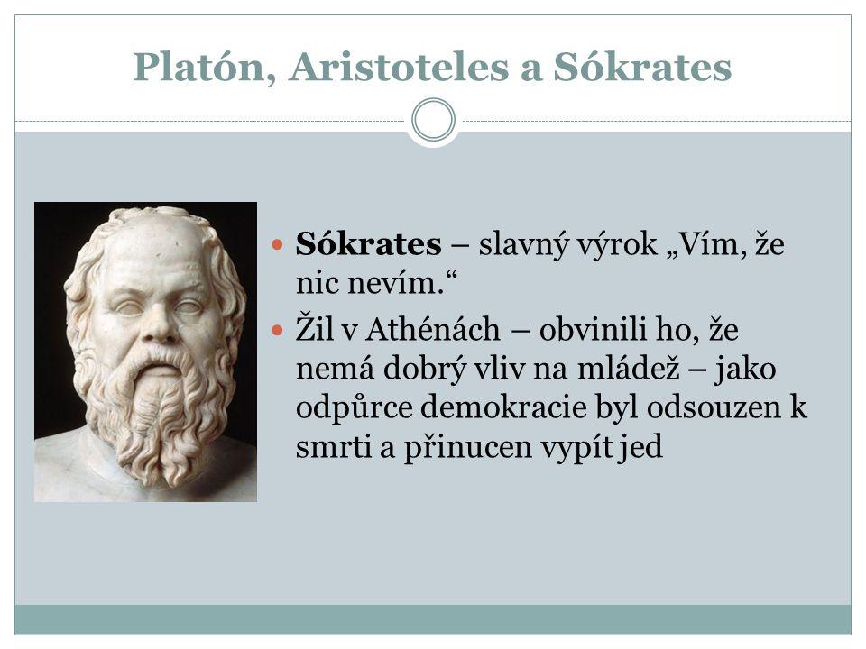 Platón, Aristoteles a Sókrates