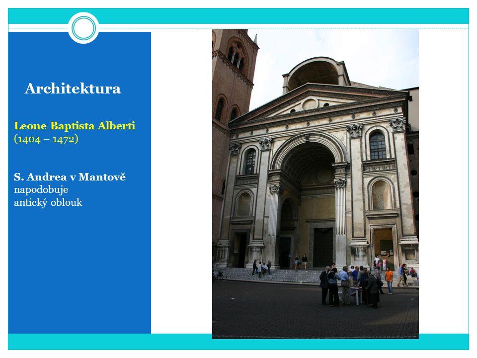 Architektura Leone Baptista Alberti (1404 – 1472) S. Andrea v Mantově