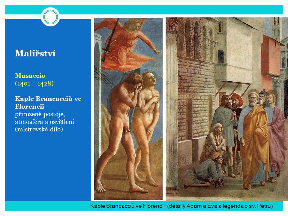 Malířství Masaccio (1401 – 1428) Kaple Brancacciů ve Florencii