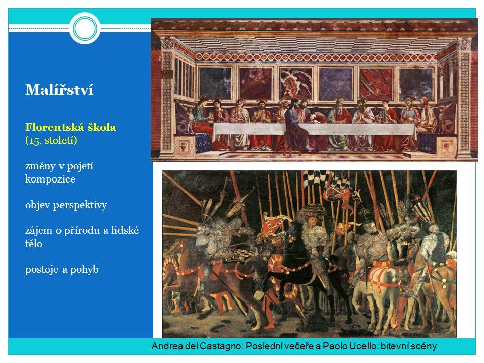 Malířství Florentská škola (15. století) změny v pojetí kompozice