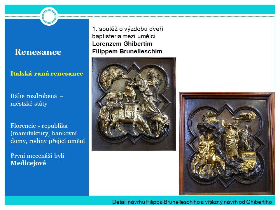 Renesance 1. soutěž o výzdobu dveří baptisteria mezi umělci