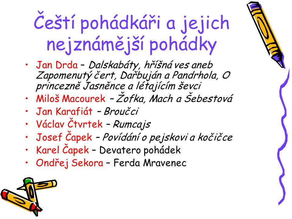 Čeští pohádkáři a jejich nejznámější pohádky