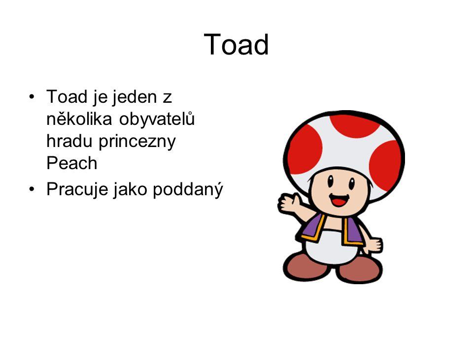 Toad Toad je jeden z několika obyvatelů hradu princezny Peach