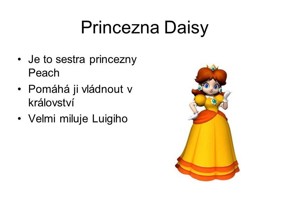 Princezna Daisy Je to sestra princezny Peach