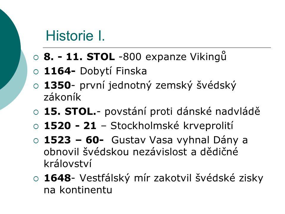 Historie I. 8. - 11. STOL -800 expanze Vikingů 1164- Dobytí Finska