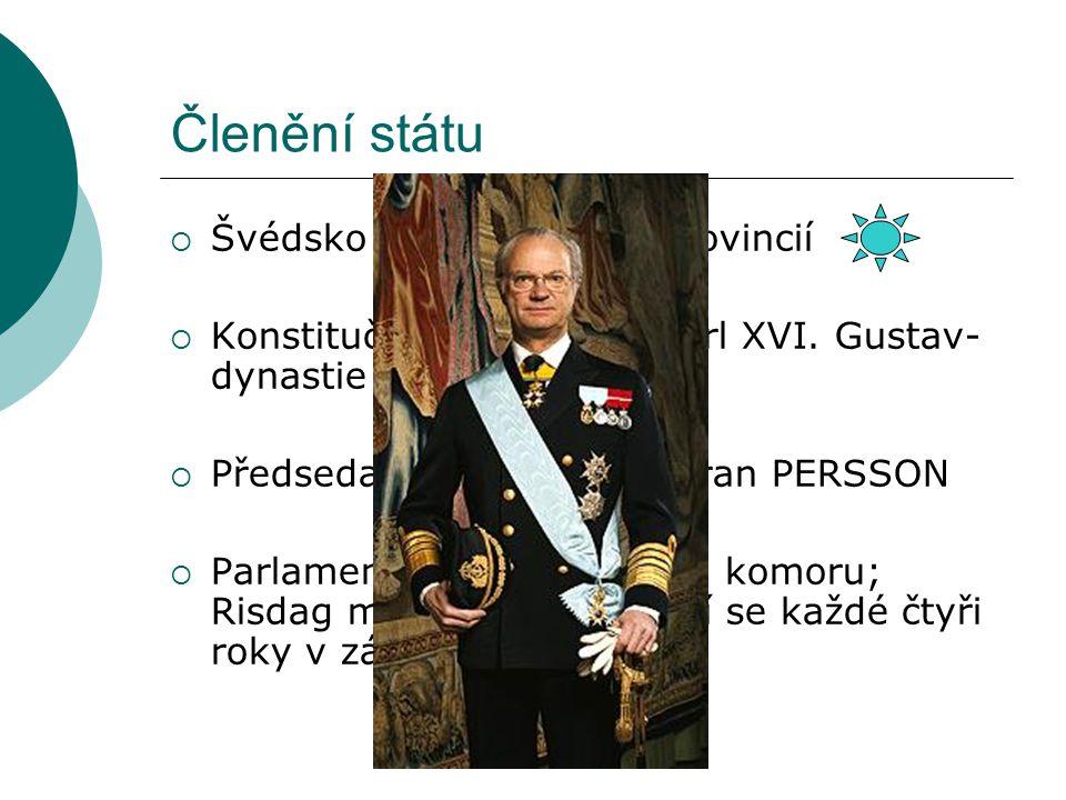Členění státu Švédsko se skládá z 24 provincií