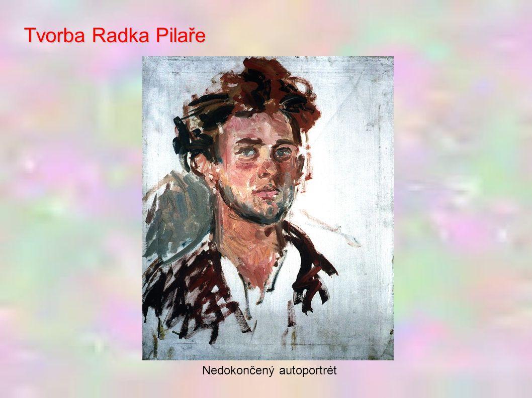 Tvorba Radka Pilaře Nedokončený autoportrét