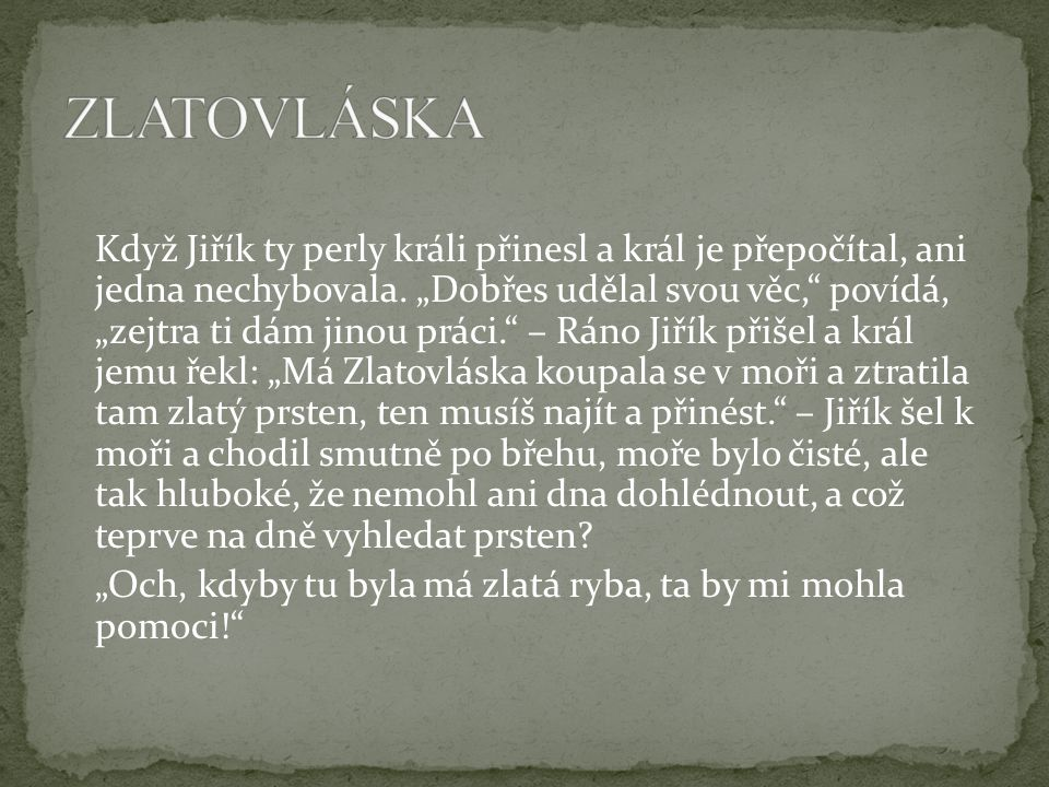 ZLATOVLÁSKA