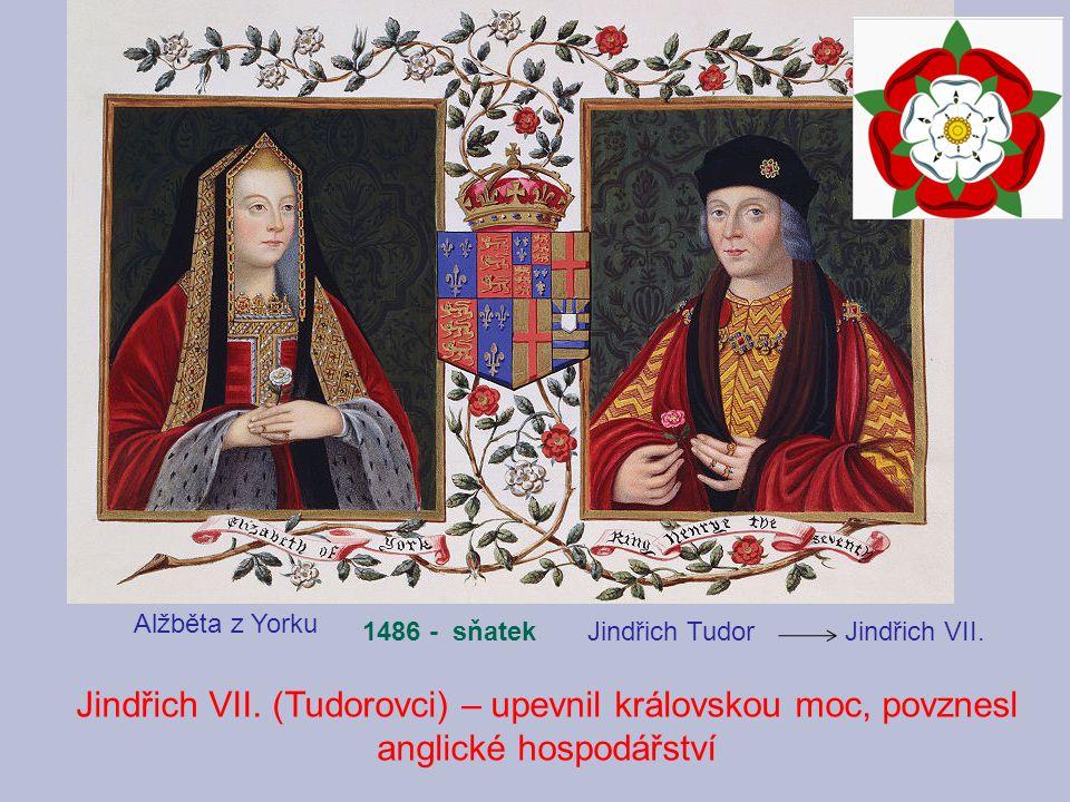 Alžběta z Yorku 1486 - sňatek. Jindřich Tudor Jindřich VII.