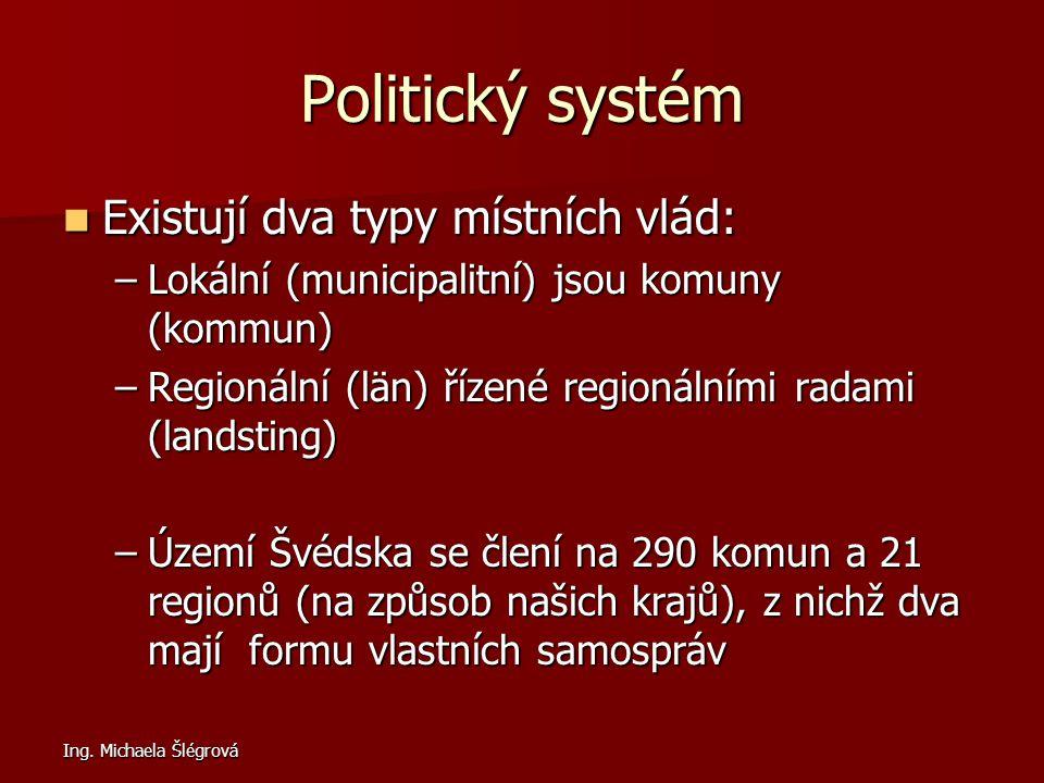 Politický systém Existují dva typy místních vlád: