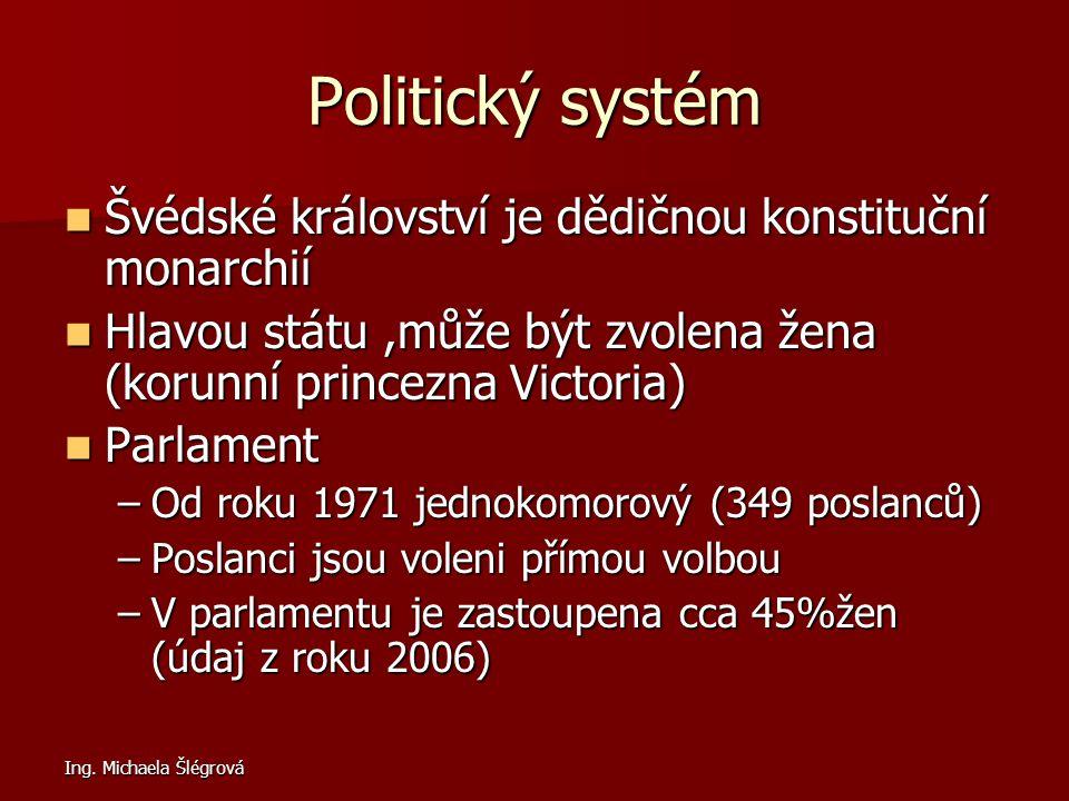 Politický systém Švédské království je dědičnou konstituční monarchií