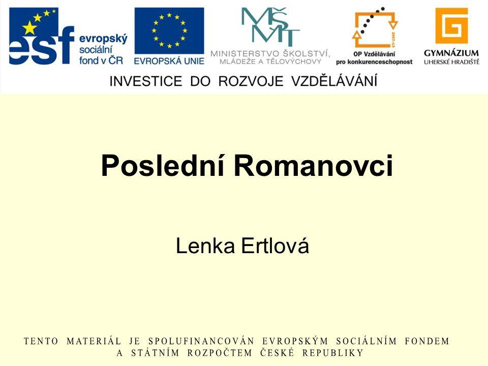 Poslední Romanovci Lenka Ertlová
