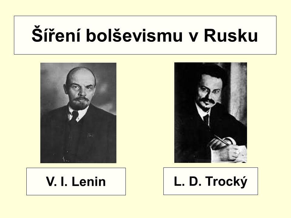Šíření bolševismu v Rusku