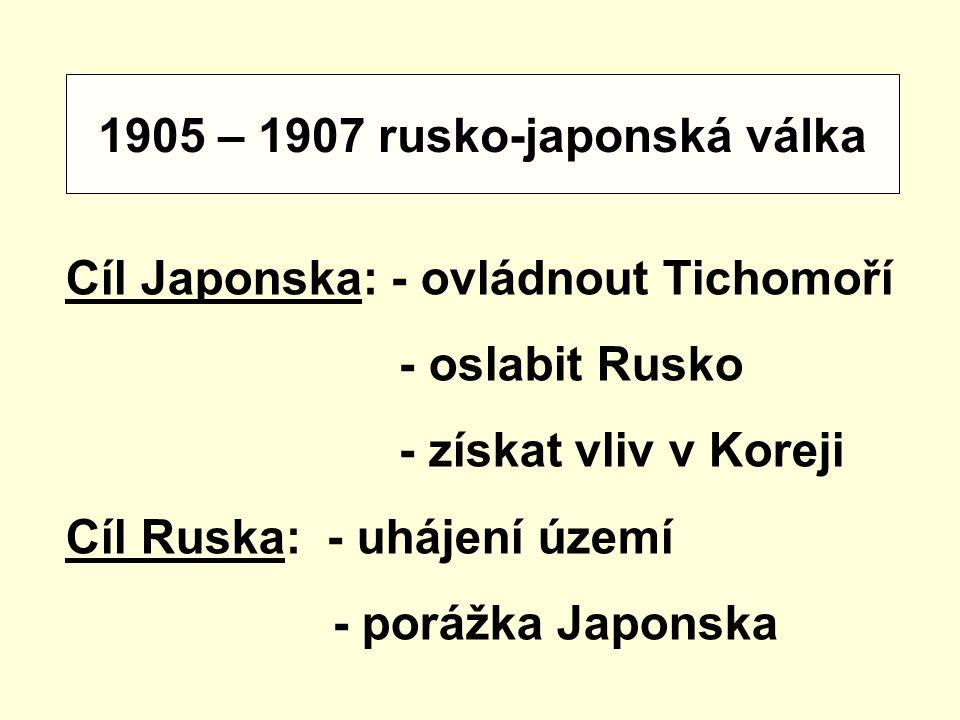 1905 – 1907 rusko-japonská válka