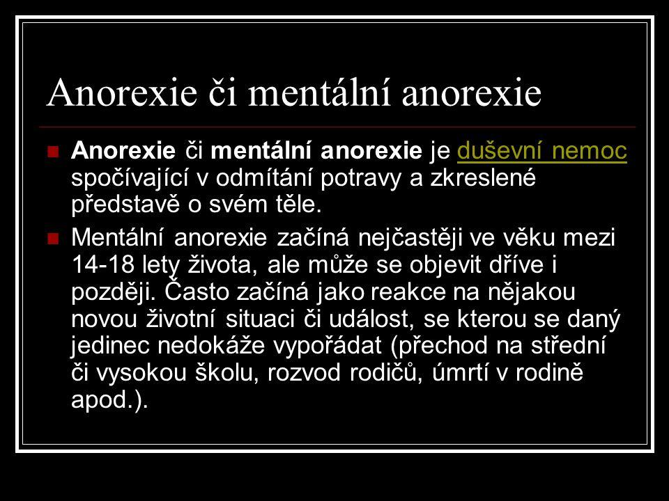 Anorexie či mentální anorexie