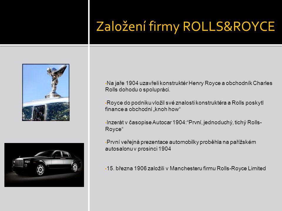 Založení firmy ROLLS&ROYCE
