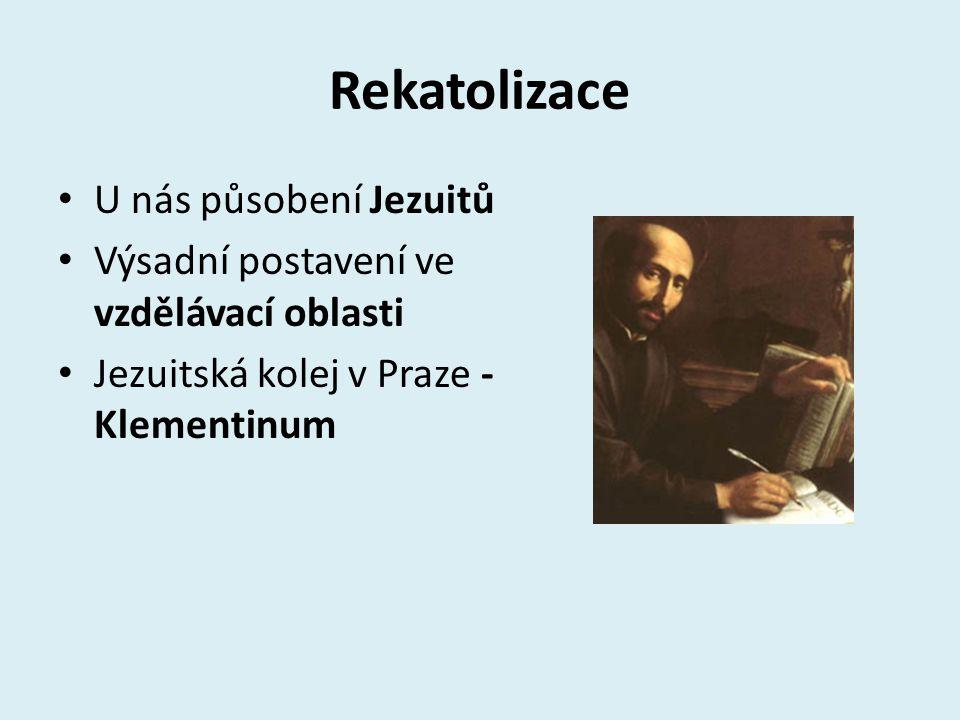 Rekatolizace U nás působení Jezuitů