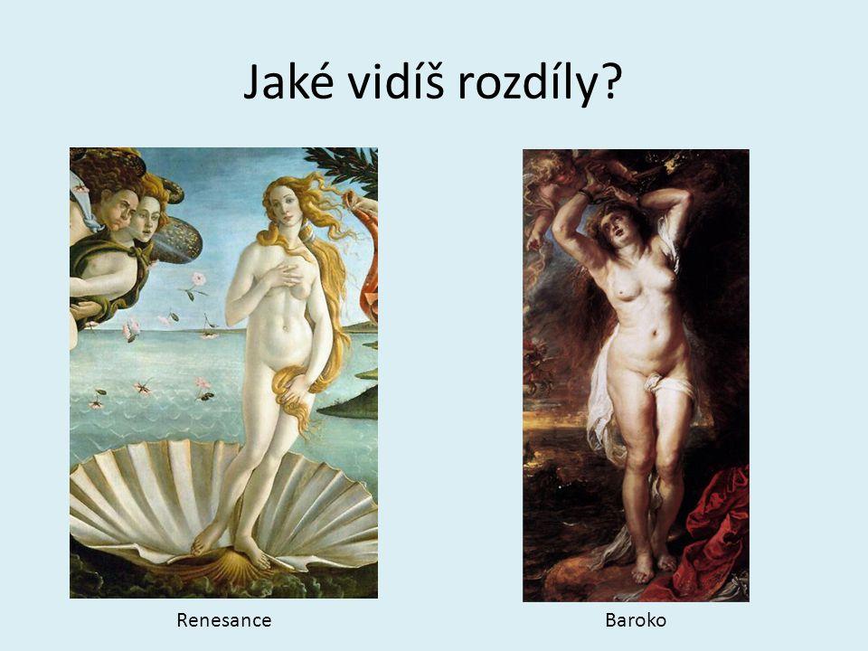 Jaké vidíš rozdíly Renesance Baroko