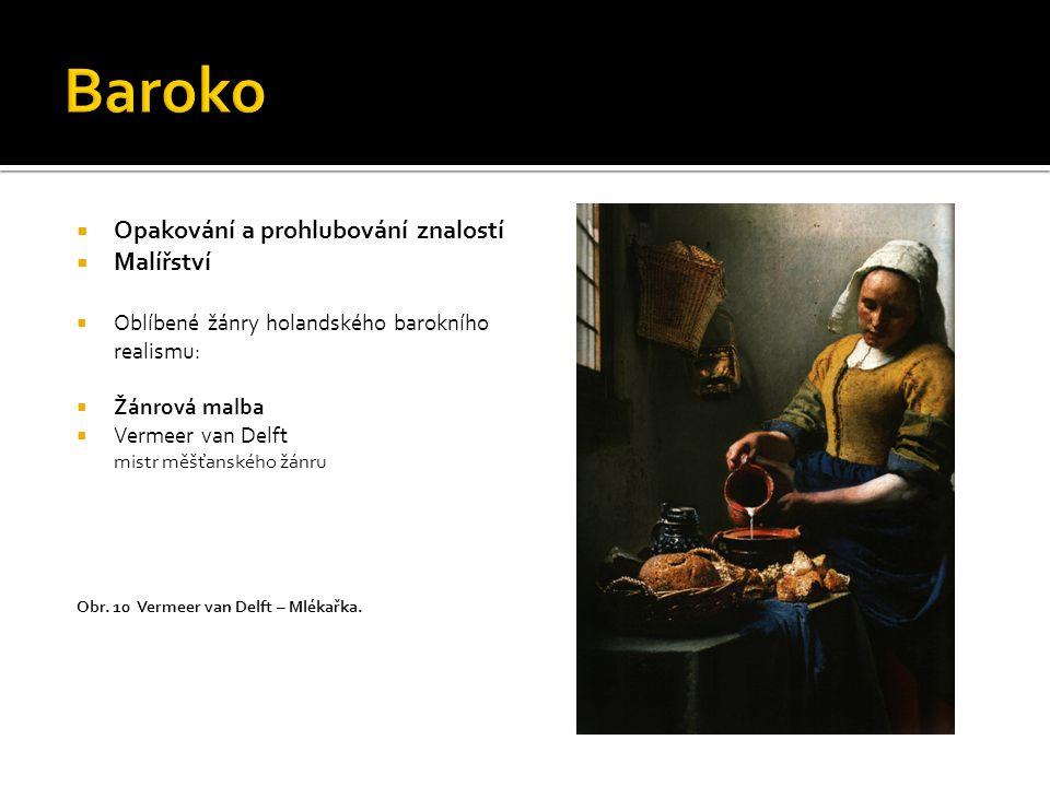 Baroko Opakování a prohlubování znalostí Malířství