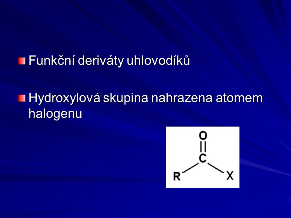 Funkční deriváty uhlovodíků