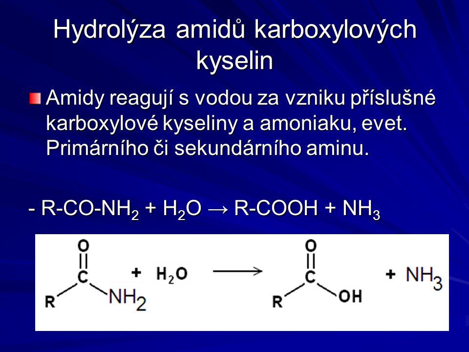Hydrolýza amidů karboxylových kyselin