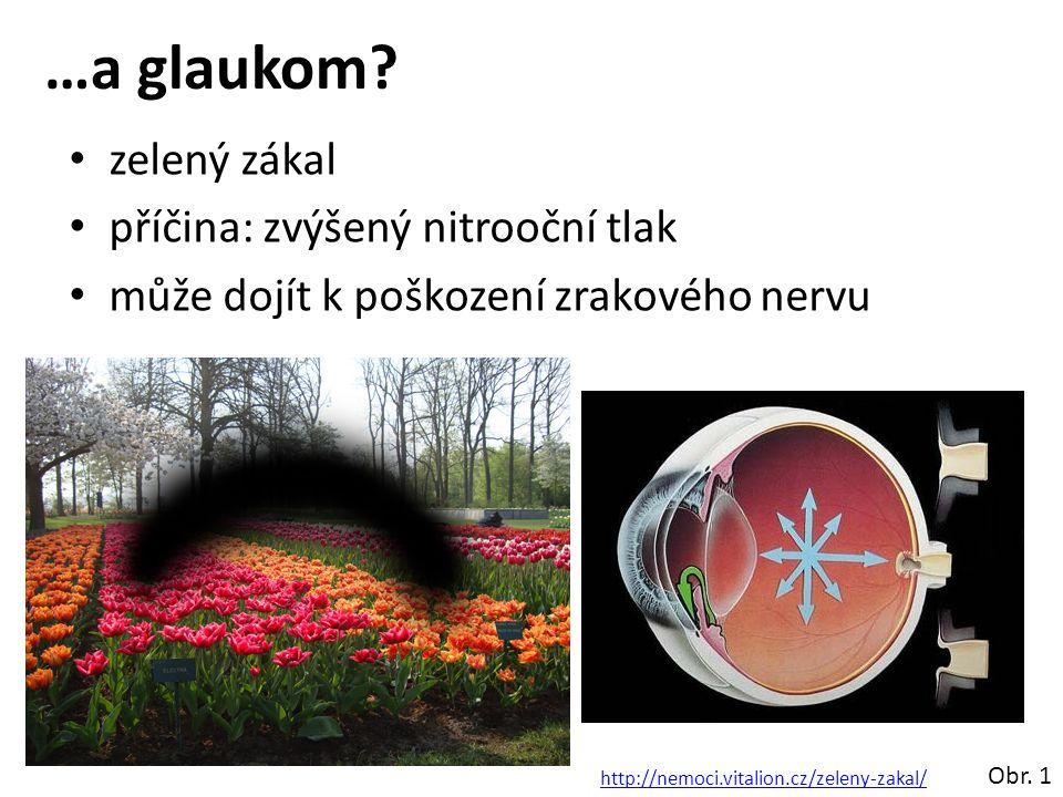 …a glaukom zelený zákal příčina: zvýšený nitrooční tlak