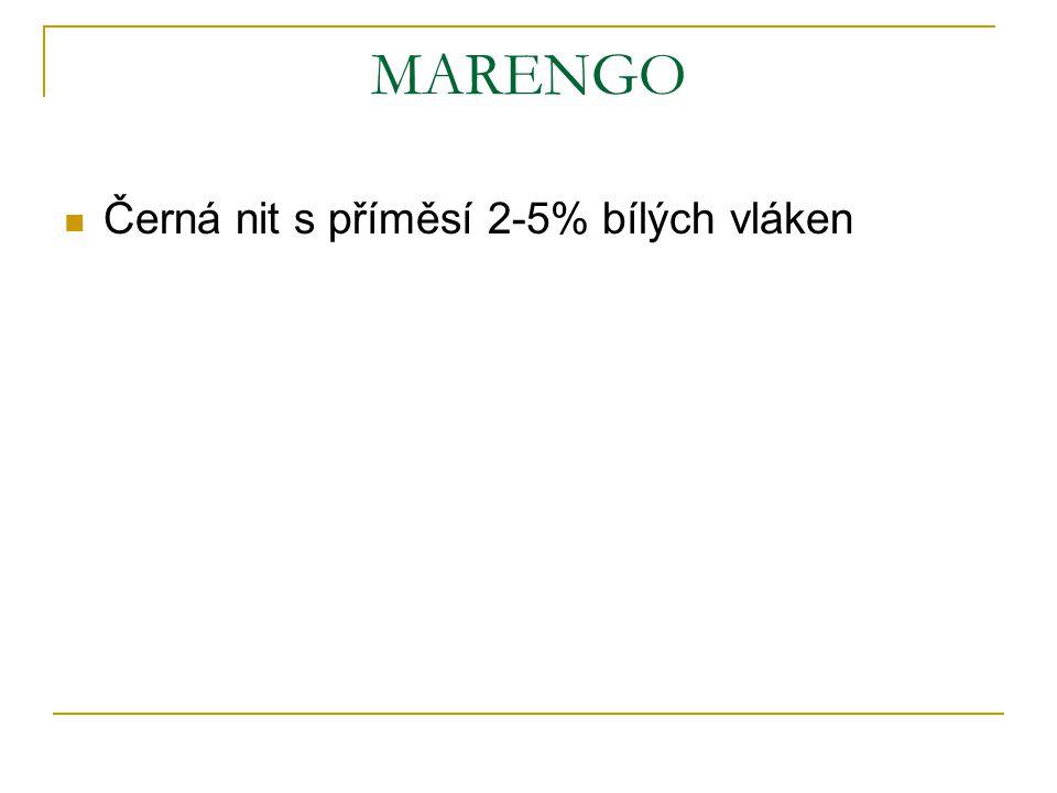 MARENGO Černá nit s příměsí 2-5% bílých vláken