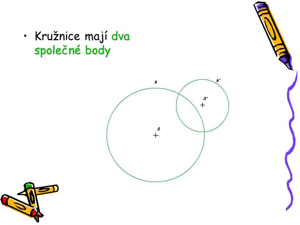 Kružnice mají dva společné body