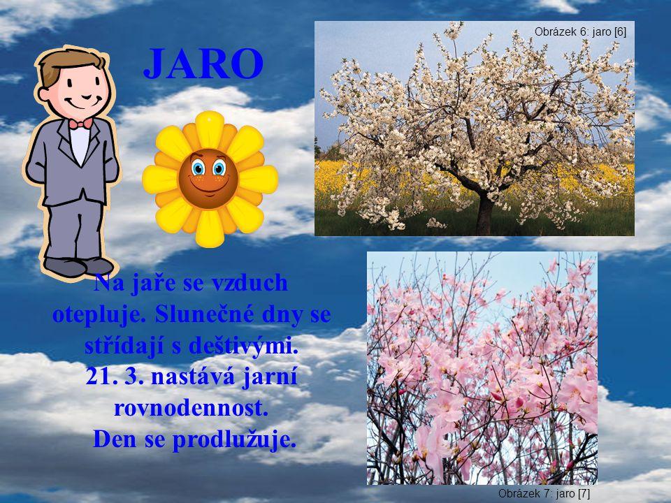 JARO Na jaře se vzduch otepluje. Slunečné dny se střídají s deštivými.