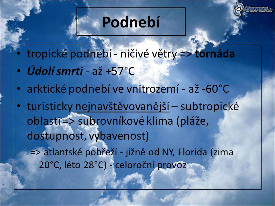 Podnebí tropické podnebí - ničivé větry => tornáda