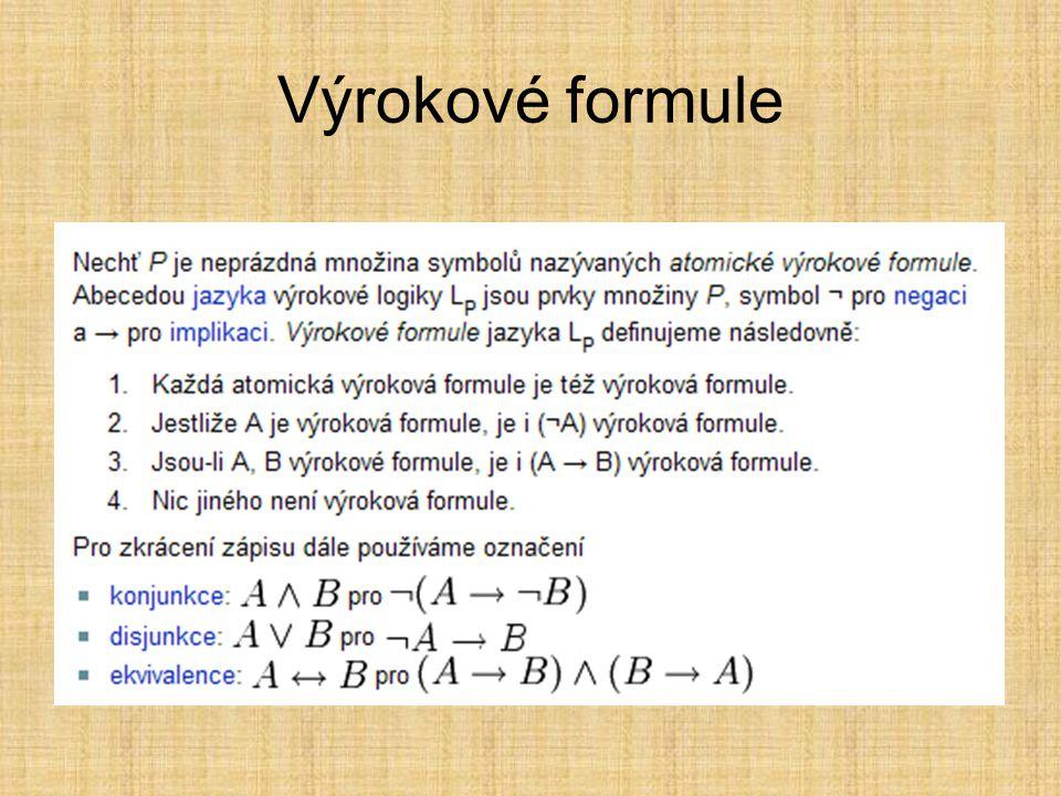 Výrokové formule