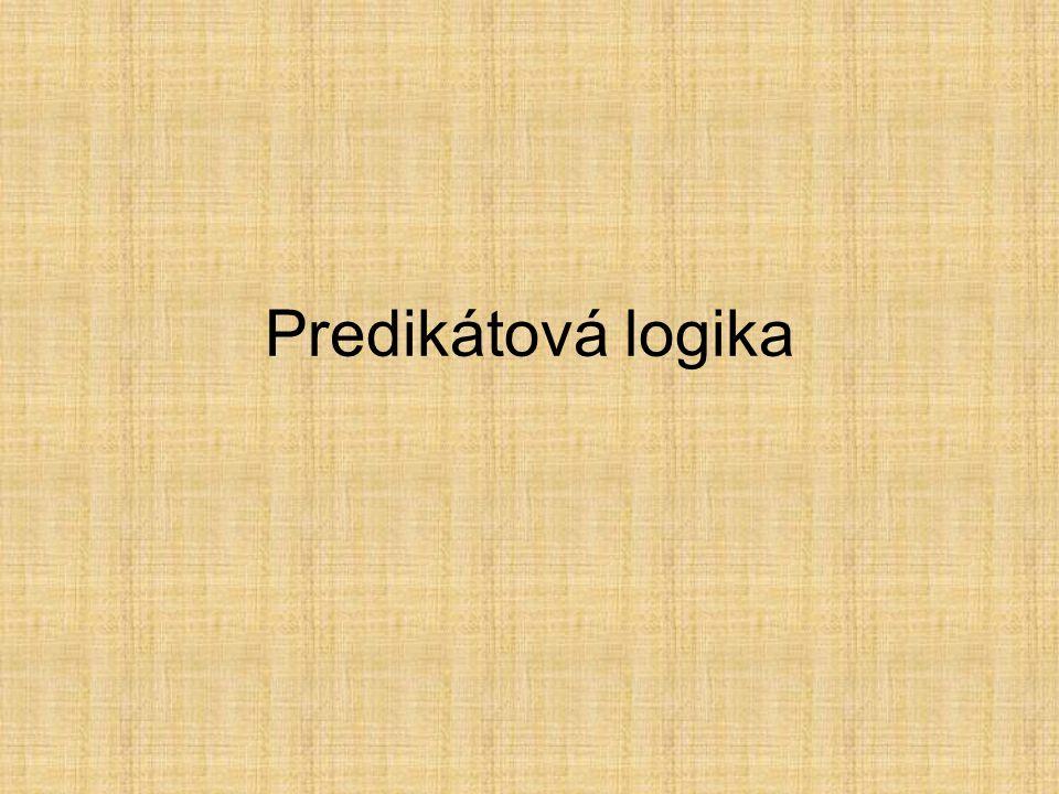 Predikátová logika