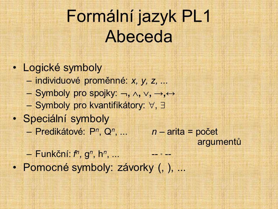 Formální jazyk PL1 Abeceda