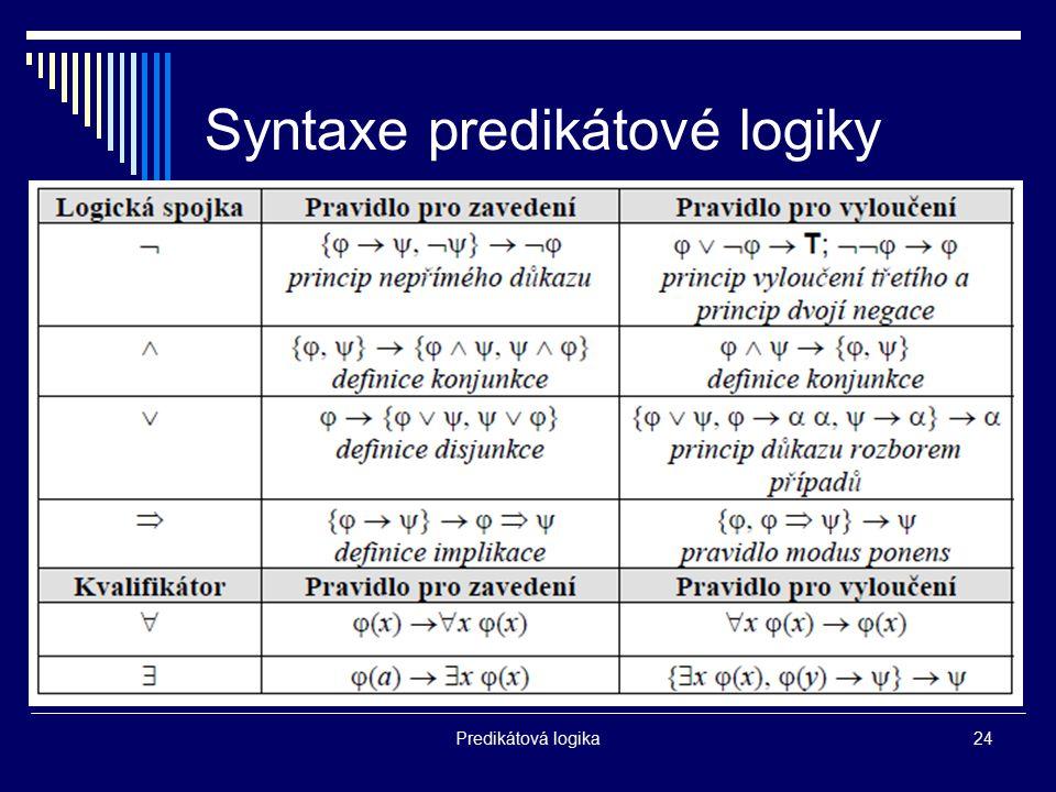 Syntaxe predikátové logiky