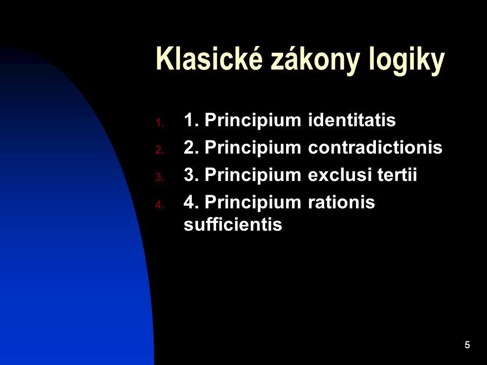 Klasické zákony logiky