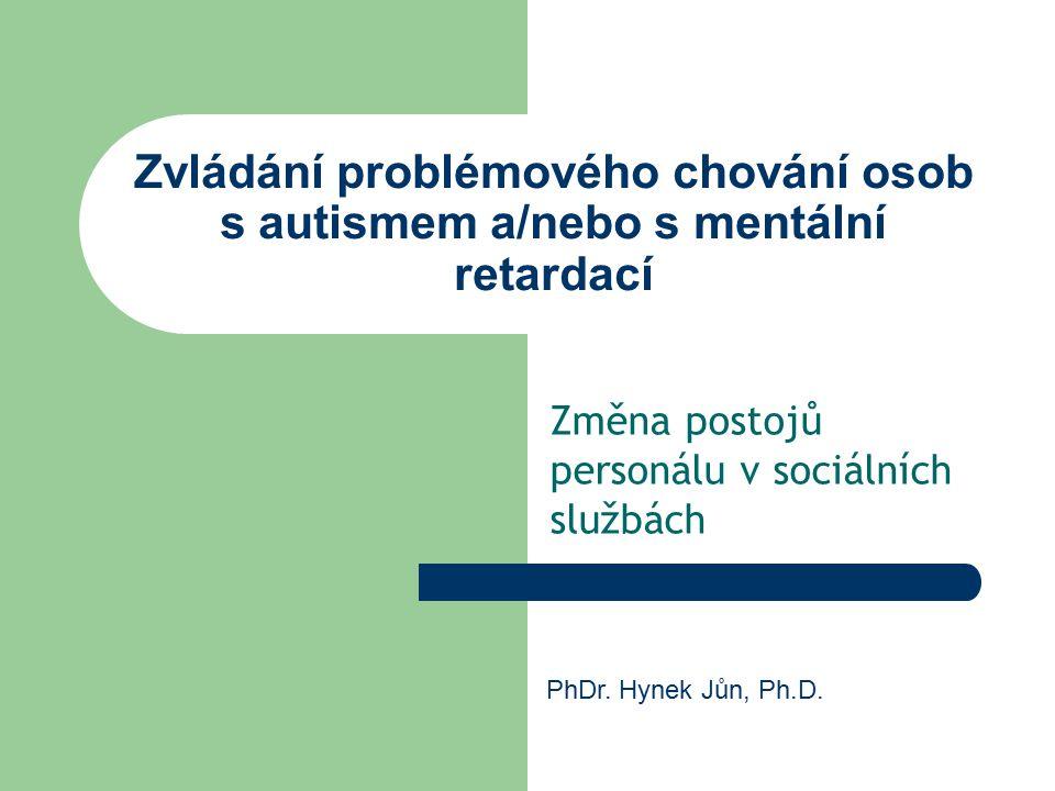 Změna postojů personálu v sociálních službách